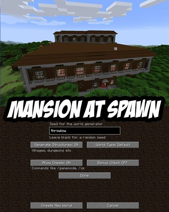 Woodland Mansion Spawn Seed Pc Mac Throwlow Minecraft