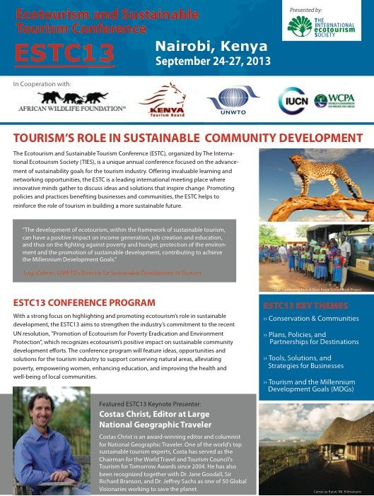 Estc13 Conference Overview Http Www Ecotourismconference Org