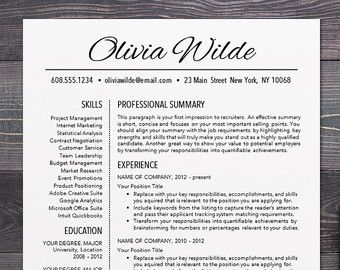 Professional Resume  Cv Template Mac Or By Theshinedesignstudio