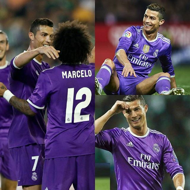 Real Madrid Players Will Wear Purple Kit In Ucl Final As Real Madrid Is The Away Team Cristiano Ronaldo Real Madrid Players Ronaldo Real Madrid
