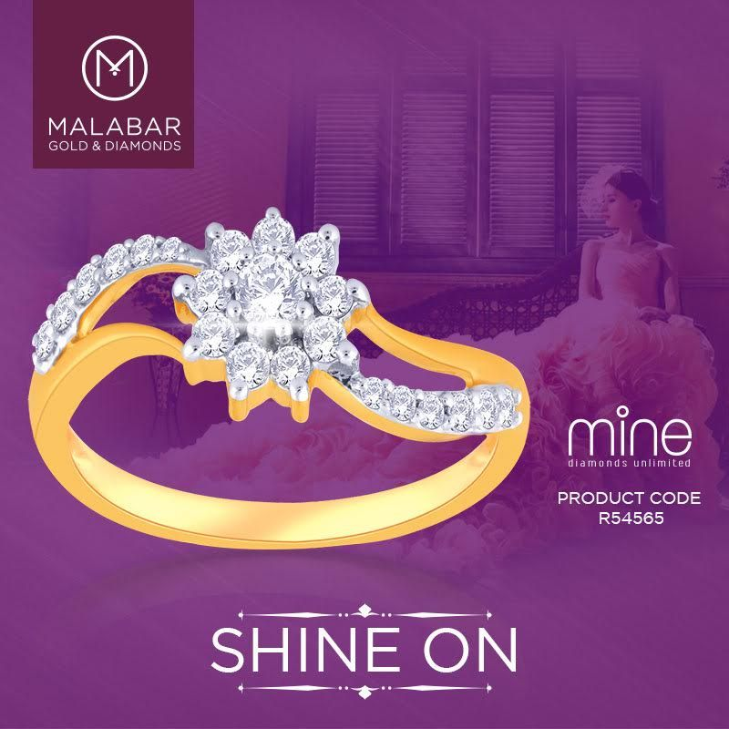 ccf22b638 Let her beauty flow through this simple yet classy ring from Malabar Gold &  Diamonds.