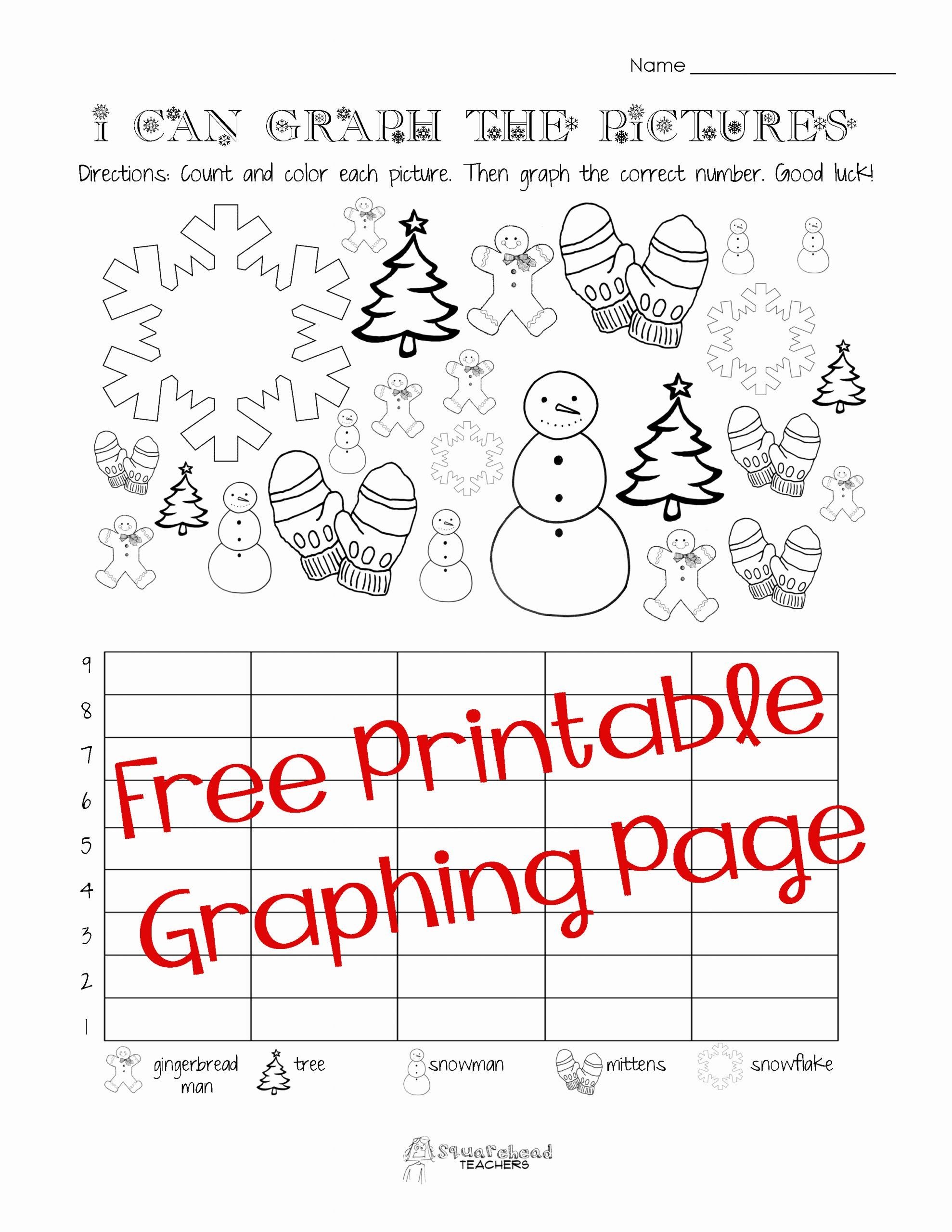Graphing Worksheet Kindergarten Free In