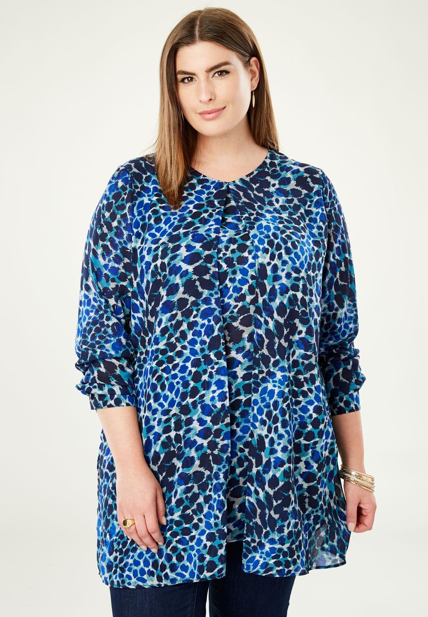 24f0c332060eb2 Flyaway V-Neck Tunic - Women's Plus Size Clothing   Products   Tunic ...