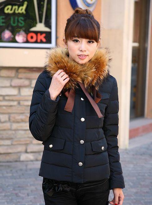 Moncler Cachalot Fur Collar Women Jacket Matte Black [2900355] - £200.69 : 5% off discount code: happywinter