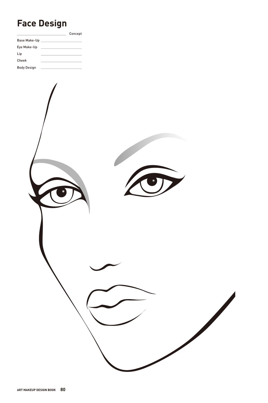 Gratifying image inside printable face painting chart