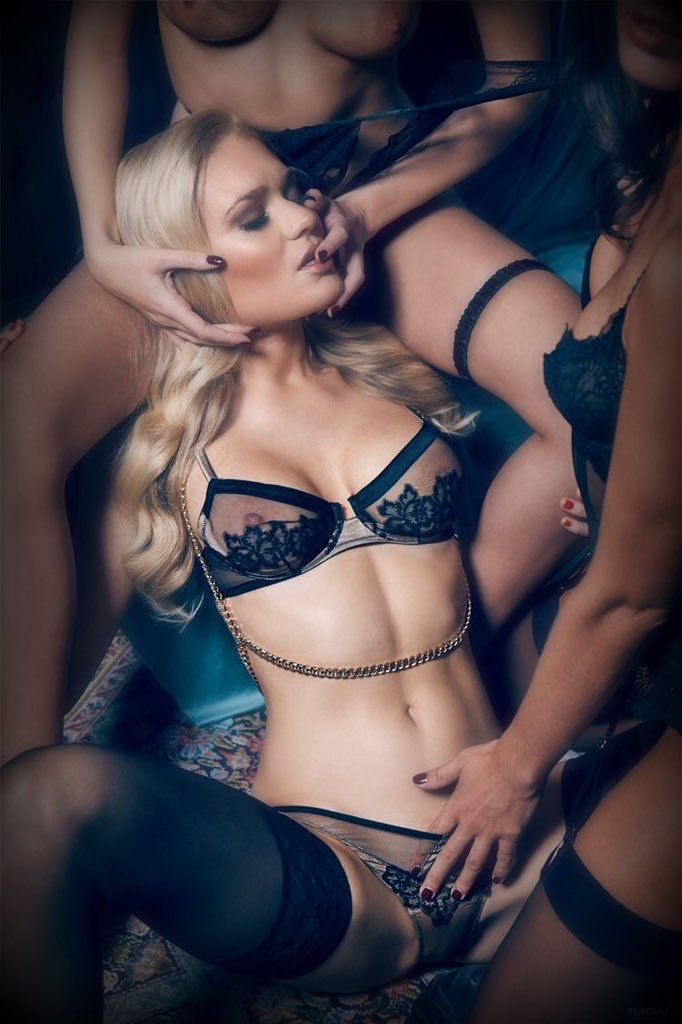 Erotic lesbians in lingerie #9