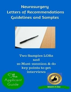 Neurosurgery Letters Of Recommendations Guidelines And Samples