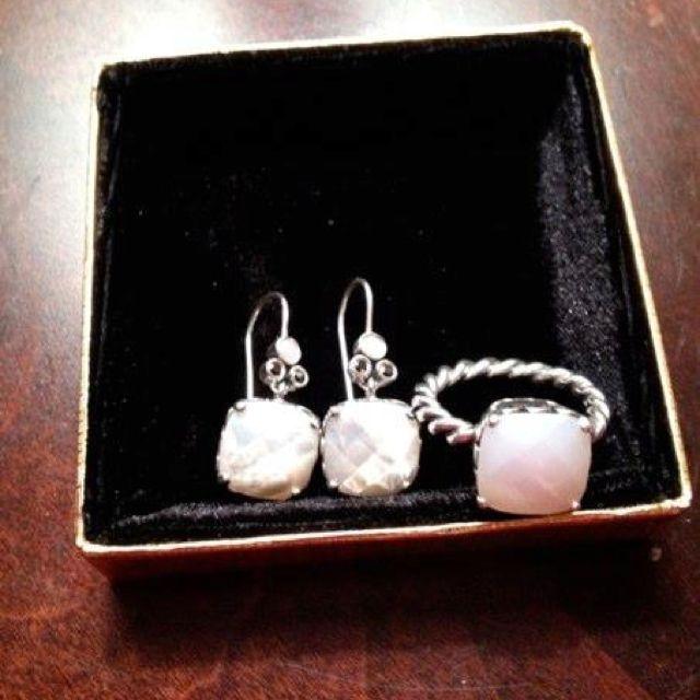 Pandora Mother Of Pearl Earrings