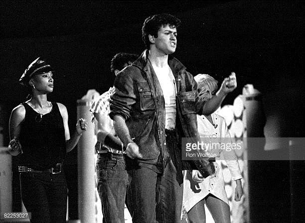 George Michael Andre Ridgeley of 'Wham' perform on the TV Show 'Solid Gold' in their first American TV appearance