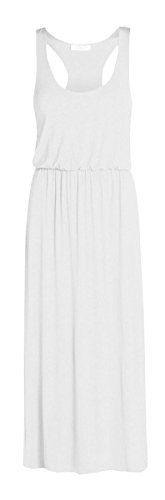 Janisramone women puff ball toga maxi vest dress White ML >>> To view further for this item, visit the image link.