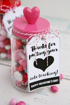 thanks for putting you heart into teaching teacher gift idea for valentines day - Valentines Day Ideas For Teachers