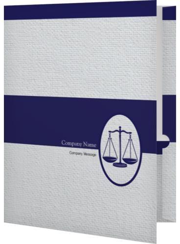 conservative blue scales of justice presentation folders