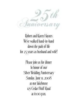 Anniversary Invitations Free 25th Wedding Anniversary Invitations Invite Card Ideas Invite Kartu Undangan Pernikahan Perayaan Pernikahan Templat Undangan