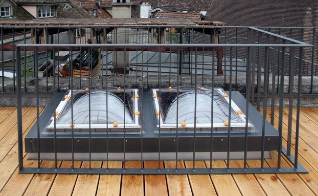 dachterrasse isolierter dachausstieg gelaender dachzinne 03 balustrades gel nder pinterest. Black Bedroom Furniture Sets. Home Design Ideas
