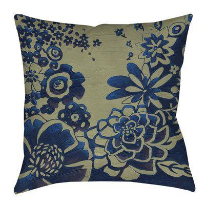 """Manual Woodworkers & Weavers Kyoto Garden 3 Indoor/Outdoor Throw Pillow Size: 16"""" H x 16"""" W x 4"""" D"""