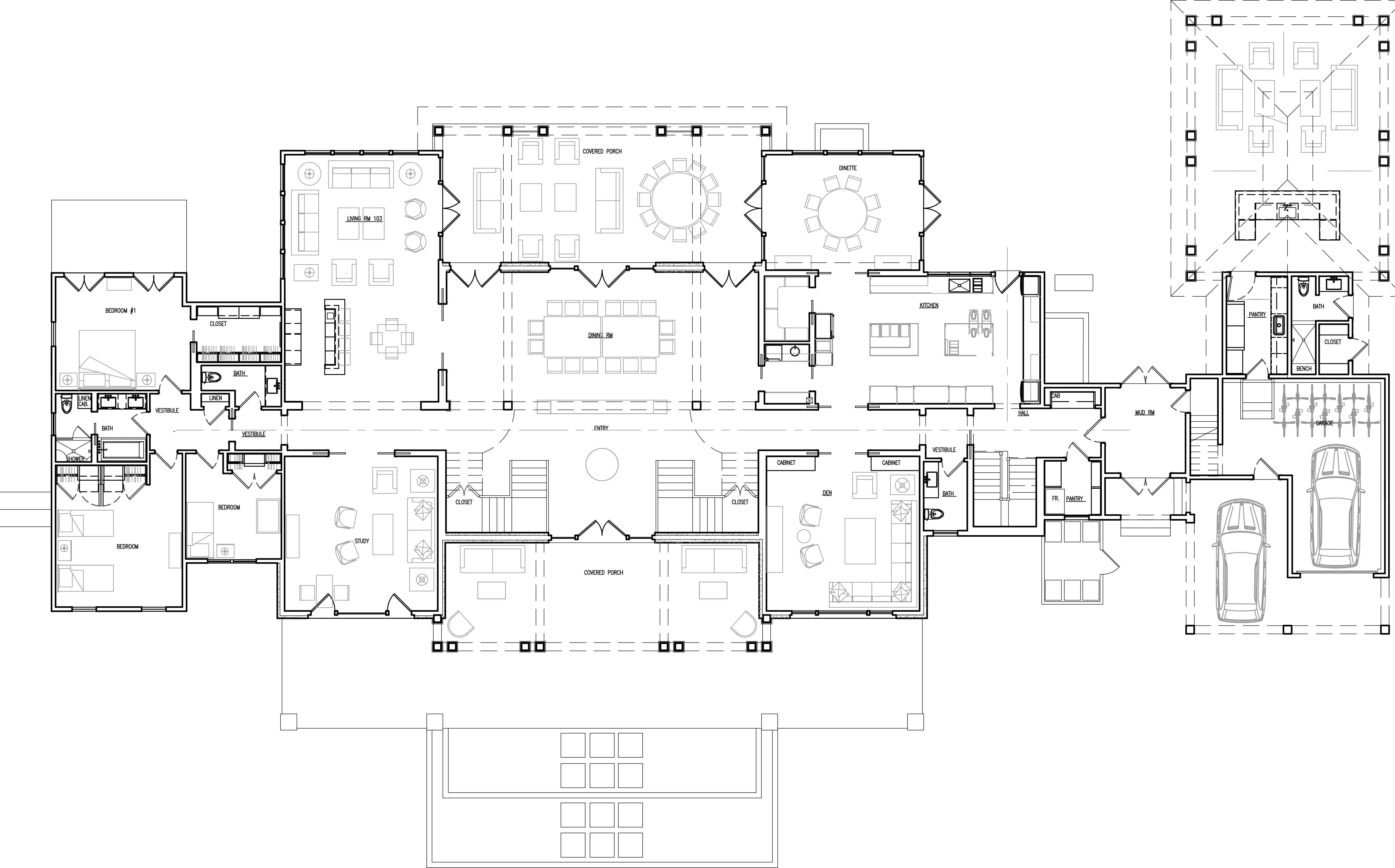 Jersey Shore Hsj Architecture Mansion Floor Plan Courtyard