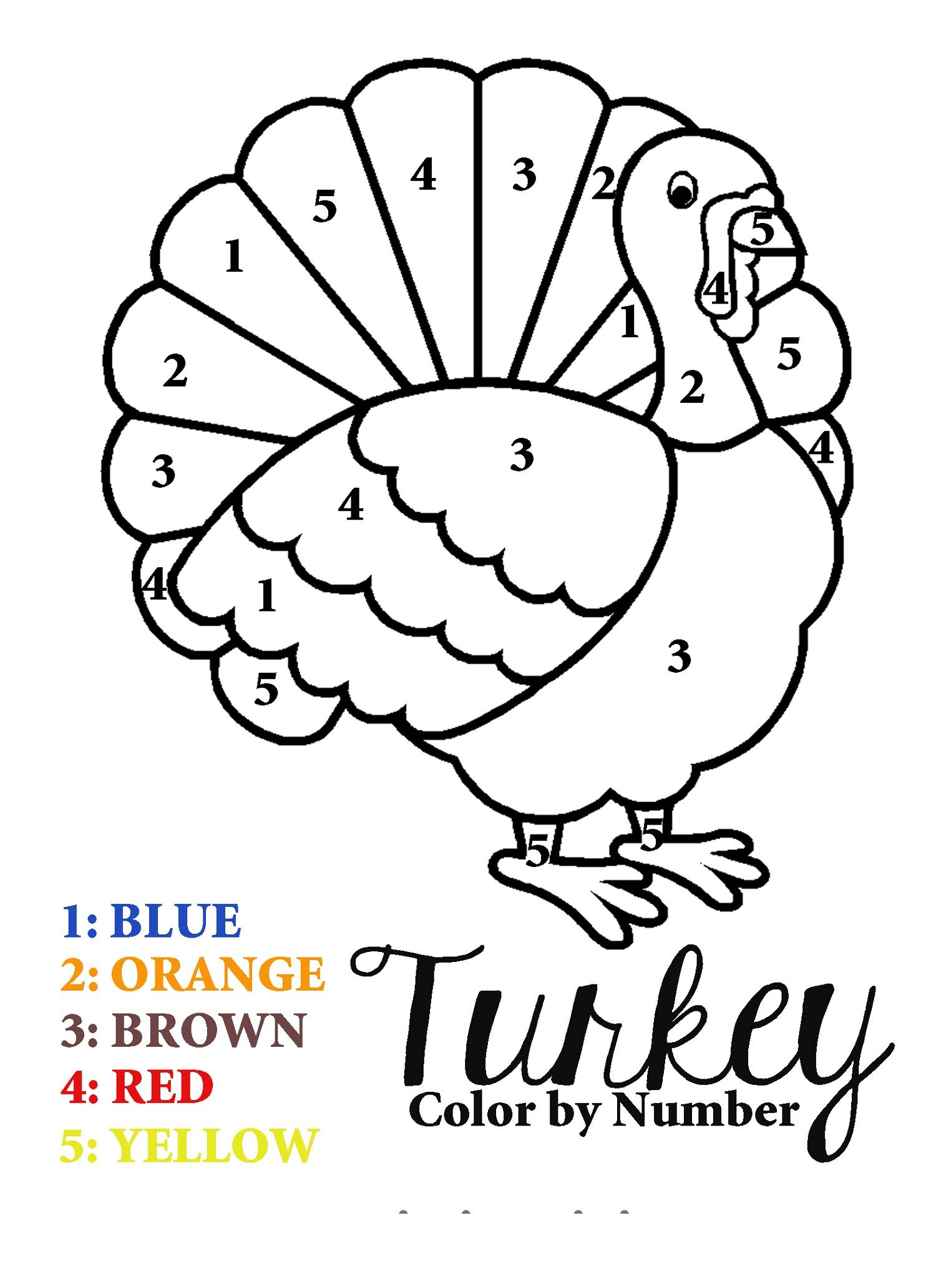 Free Number Worksheets For Kindergarten Turkey Coloring Pages Thanksgiving Coloring Pages Thanksgiving Coloring Sheets