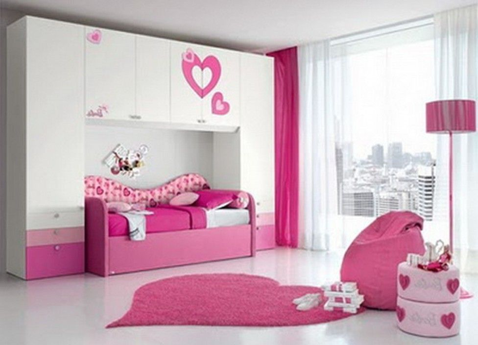 Small room ideas for girls with cute color bedroom ideas for Cute one bedroom apartment ideas