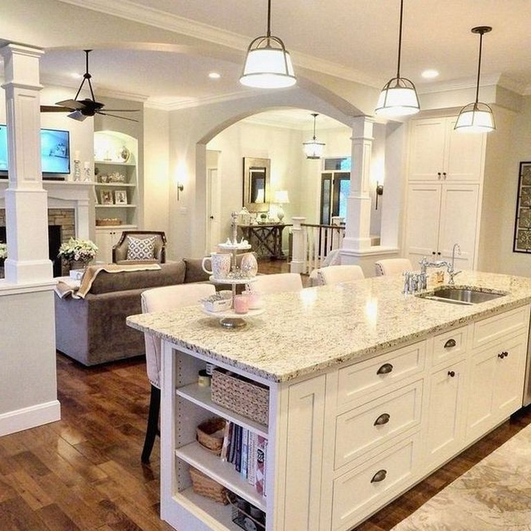 30 Best Guide To Kitchen Floor Plans With The Concept Of Island Layout Open Kitchen Kitchendecor Kit White Kitchen Design Kitchen Floor Plans Kitchen Style