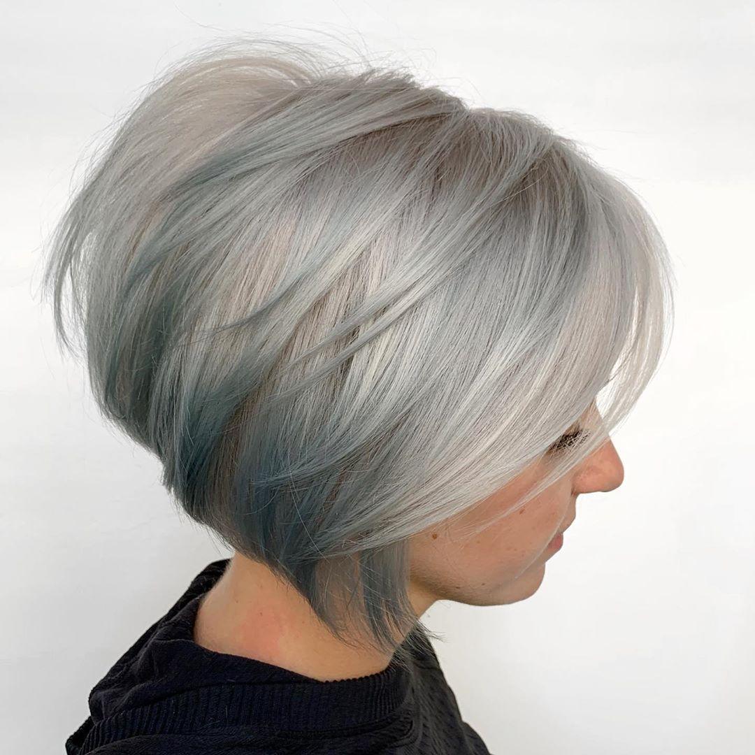 10 Short Bob Hair Color Ideas Women Short Hair Styles Color 2020 2021 In 2020 Bob Hairstyles Best Bob Haircuts Grey Bob Hairstyles