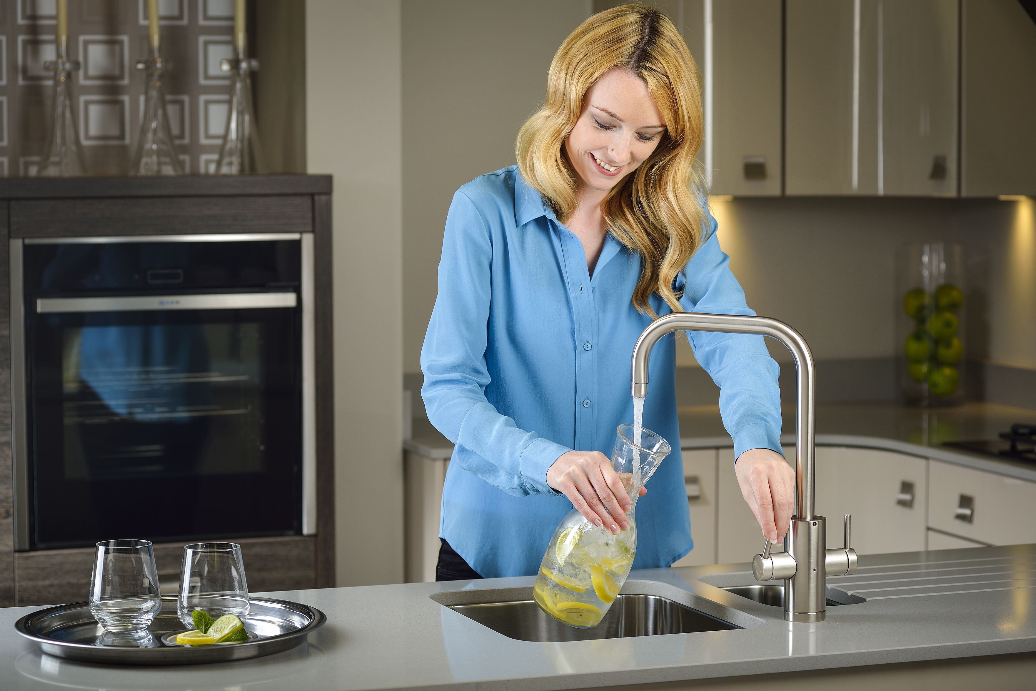 Instant filtered crystal clear cold water on tap with Pronteau by ...