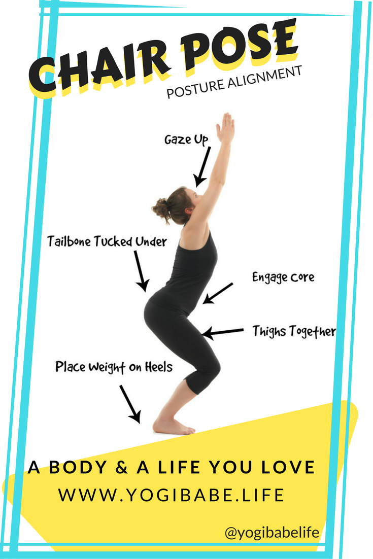 How To Do the Chair Pose (Utkatasana | Basic yoga poses ...