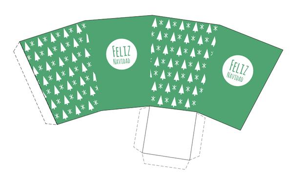 15 Cajas de Navidad para imprimir | Cajas de navidad, Navidad verde ...