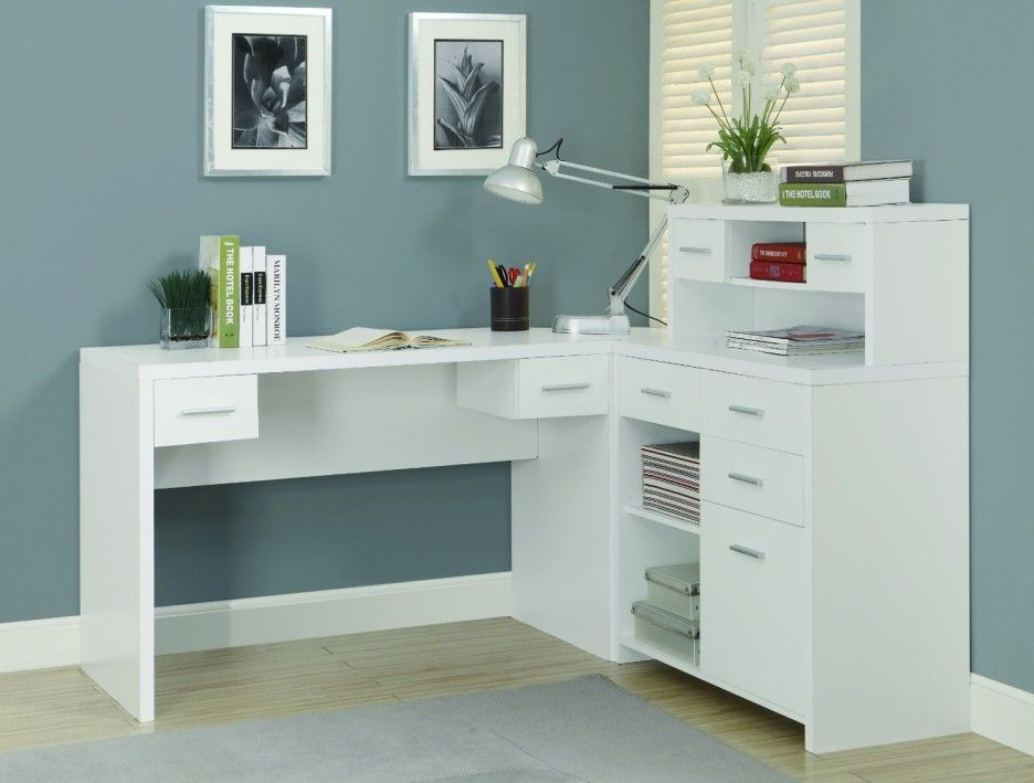 Home Office Charming Home Office Furniture Of White Corner L