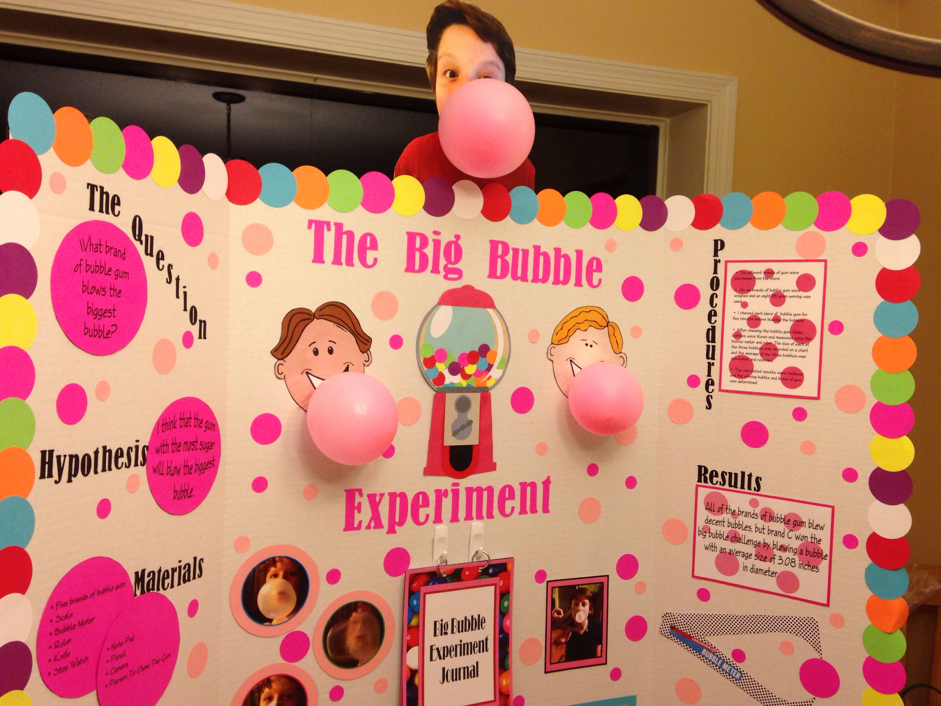 Biggest Bubble Project Fifth Grade Science Fair