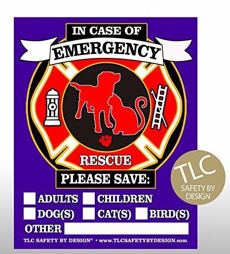 Pet Rescue Accessories Kit. Pet Safety Alert Decals & Keychain  #LBJPersonalSolutions