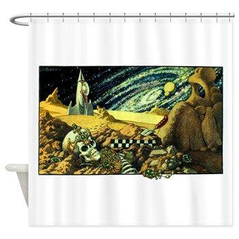 Alien Archeology Shower Curtain