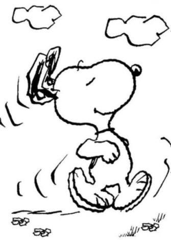 free coloring pages - Snoopy Coloring Pages