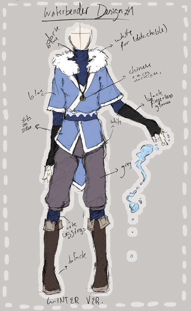 water tribe clothes avatar the last airbender legend of