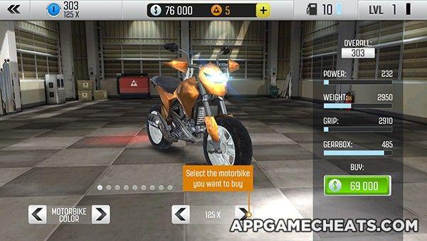 Top Bike Racing Moto Drag Cheats Hack For Silver Gold