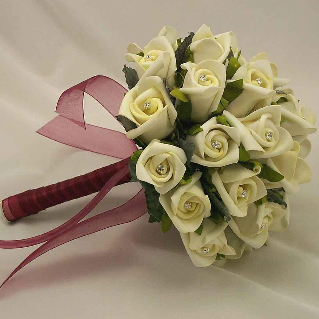 Ribbon Designs For Wedding Bridal Bouquets How To Do Flowers In