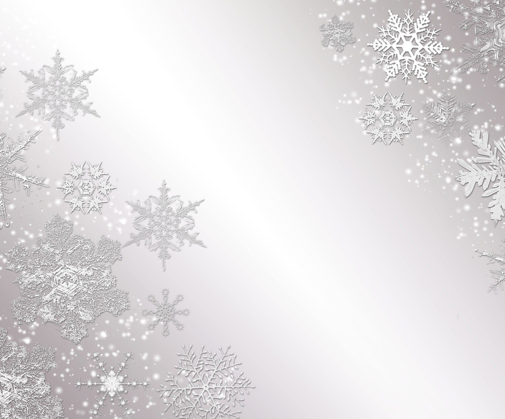 Snowflakes on Gray Background iPad Wallpaper HD Silver