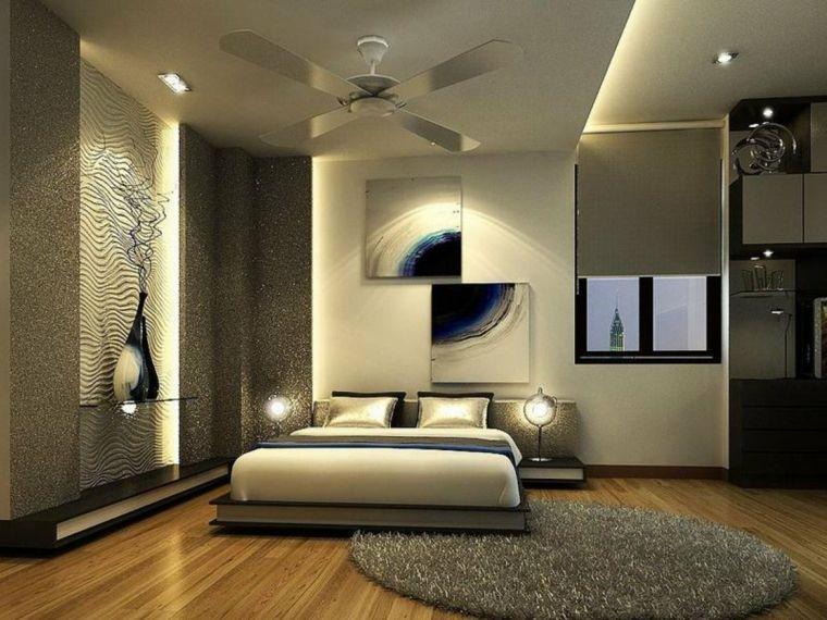 ampia e lussuosa camera da letto con tappeto, pareti, struttura ...