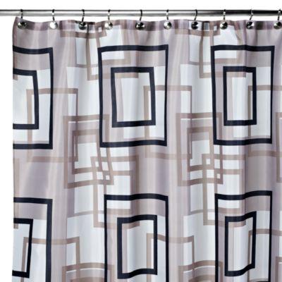 Carnation Home Fashions Lexington 108 Inch X 72 Inch Fabric Shower