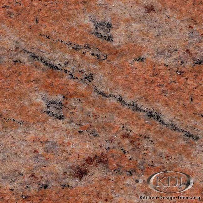 Red Marble Kitchen Countertops: Multicolor Red Granite (Kitchen-Design-Ideas.org