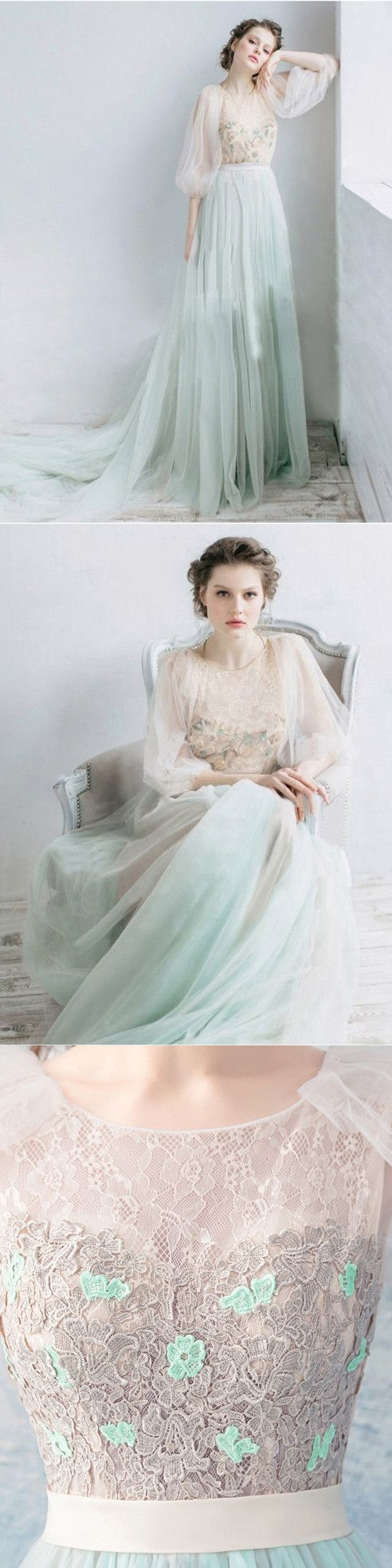 chic unique prom dress cheap long lace prom dress vb in