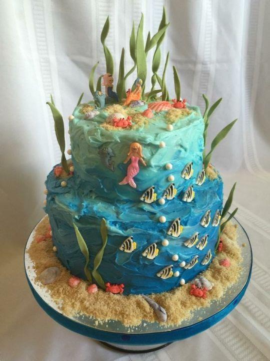 The Under the Sea cake under the sea cakes Pinterest Sea cakes