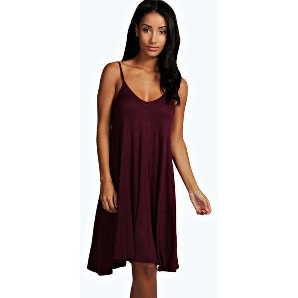 Boohoo Basics Dahlia Swing Dress ($14) ❤ liked on Polyvore ...
