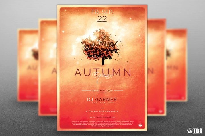 Autumn Equinox Flyer Template V3 | The Hungry JPEG