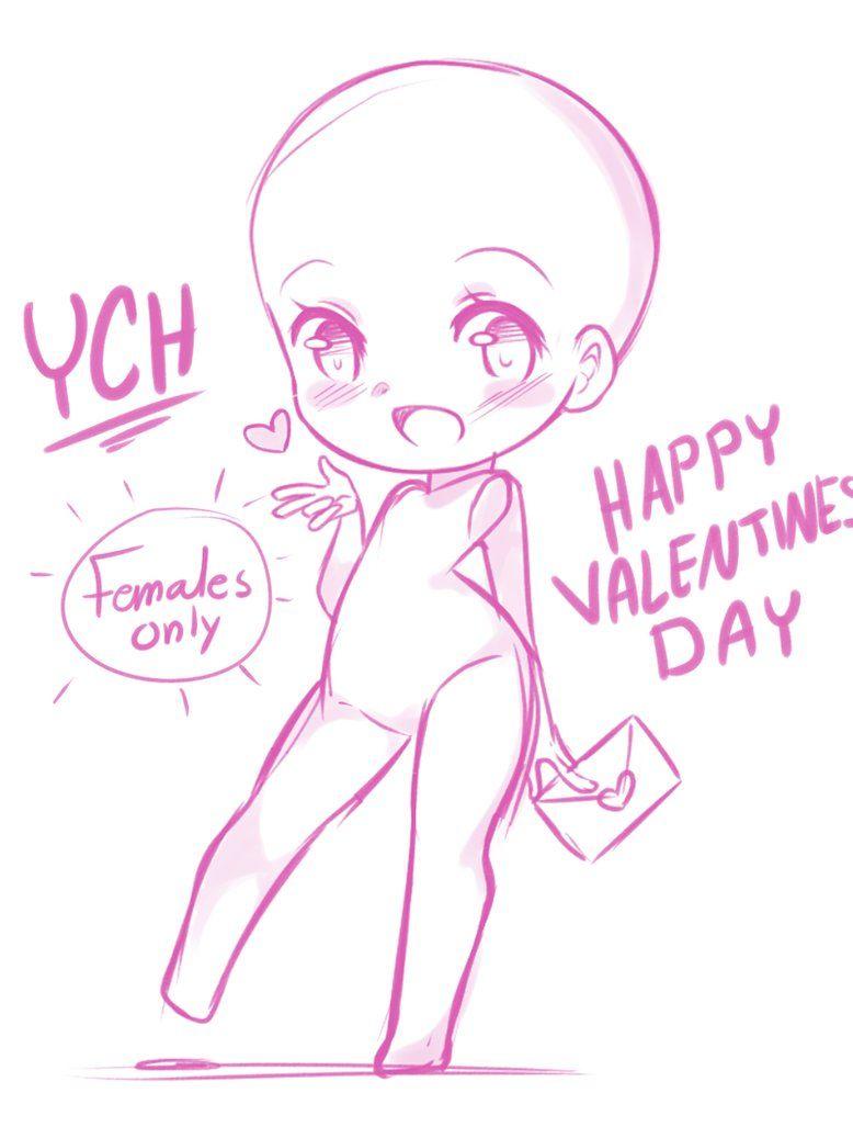 Closed 15 Valentines Day Ych By Miruukiiart Bocetos Diseno De