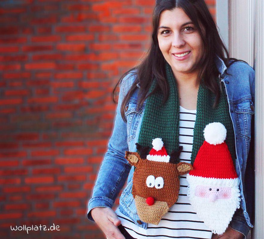 Lustiger Weihnachtsschal - Gratis Häkelanleitung | Gratis ...