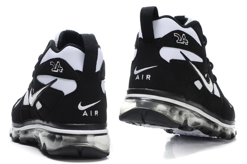 Nike Air Max Griffey Fury 1 black and white basketball shoes .