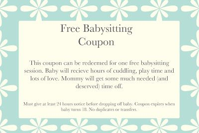 Printable babysitting coupons free baby sitting voucher printable babysitting coupons free baby sitting voucher miscellaneous baby printables pinterest coupons babysitting and babies yadclub Image collections