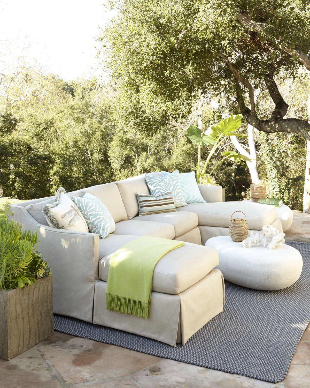 Cozy outdoor sectional al aire libre pinterest for Decoraciones de patios y terrazas