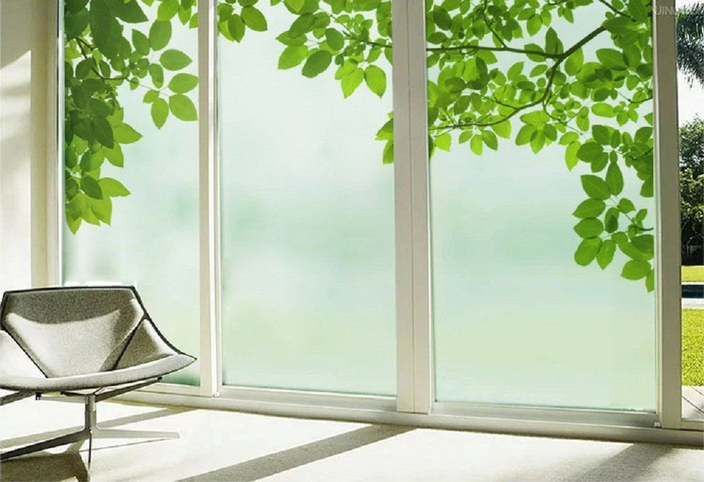 Amazon.com: Beyong Life Green Leaves Privacy Window Film Glass Stickers  Bedroom Bathroom Office