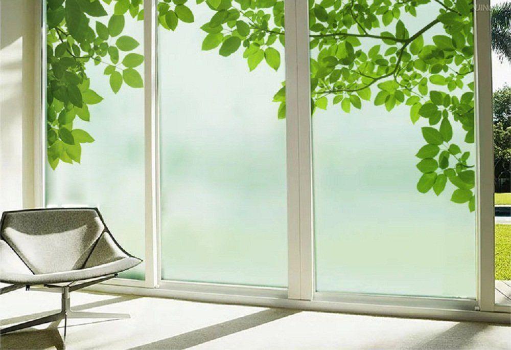 Amazon Com Beyong Life Green Leaves Privacy Window Film Glass